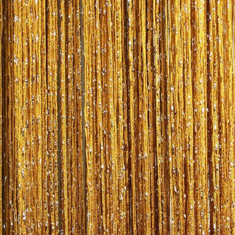 Шторы дождь - Золотые. Ш-300см., В-280см. Арт. 16