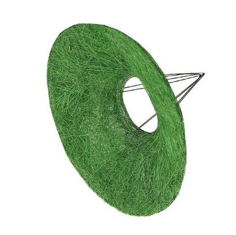 Каркас для букета гладкий (сизаль, диаметр: 30 см) Цвет: зеленый