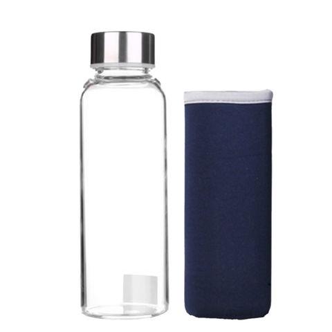 Бутылка из боросиликатного стекла 0,35 л в синем чехле