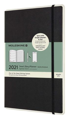 Еженедельник Moleskine PAPER TABLET SMART Large 130х210мм 144стр. черный
