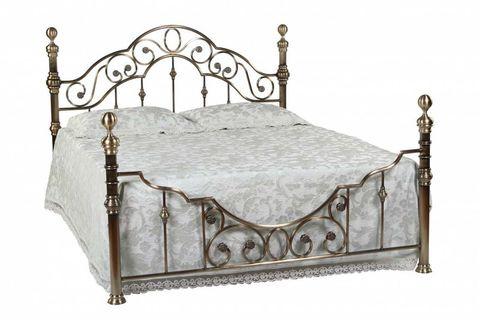 Кровать 9603 Каролина MK-2204-AB двуспальная 140х200 см Античная медь