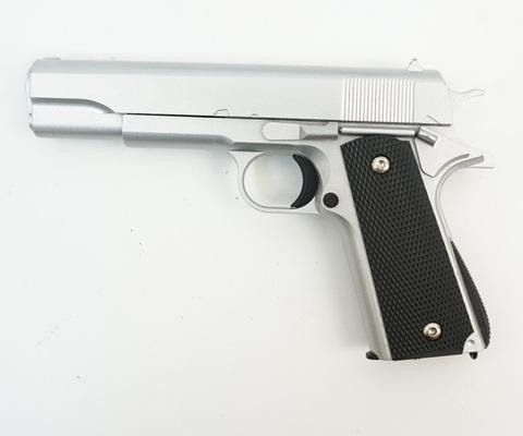 Страйкбольный пистолет Galaxy G.13S Colt 1911 black металлический, пружинный