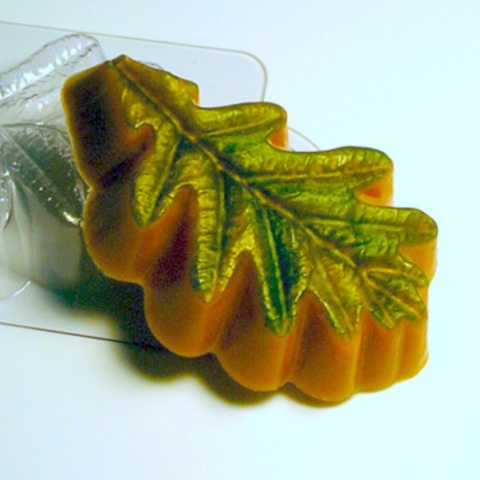 Пластиковая форма для шоколада дет. ЛИСТ ДУБА (95х65мм)
