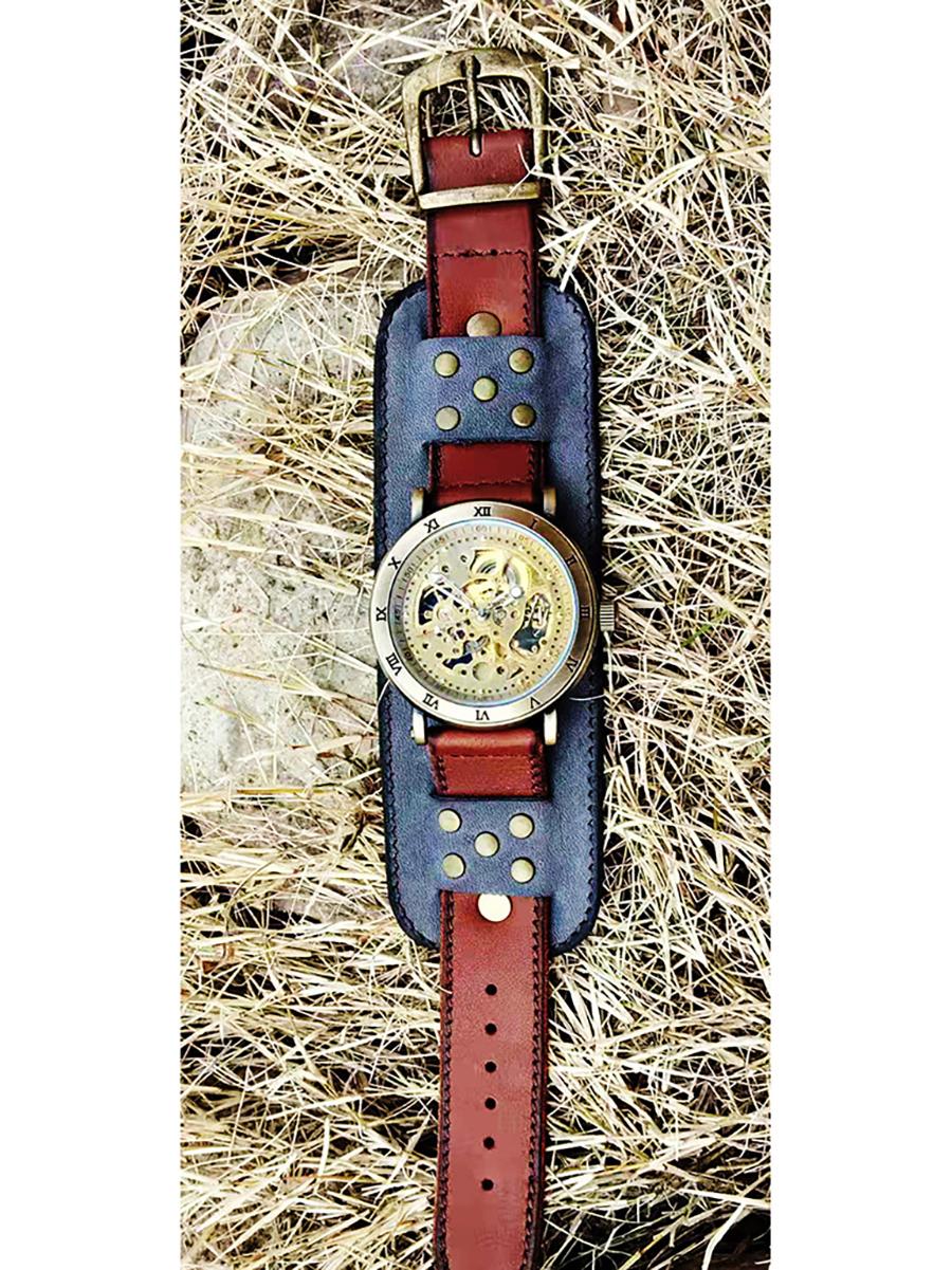 Часы скелетоны женские механические Wild West YOURTIME