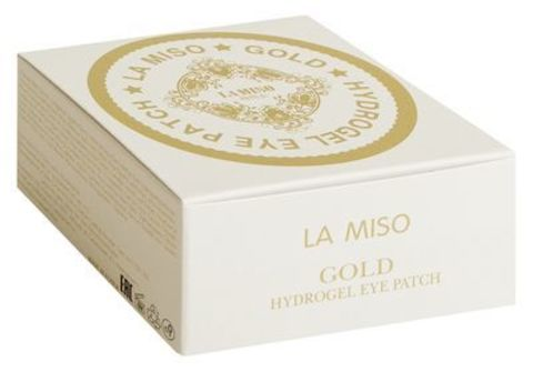 LA MISO Гидрогелевая маска с частицами золота для кожи вокруг глаз, 60ЕА