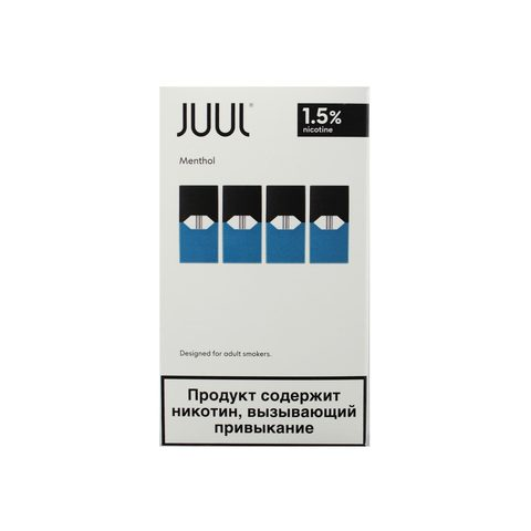 Сменный Картридж для JUUL. ДЖУЛ Bold Menthol х4, 0,7 мл 18 мг
