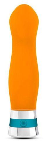 Оранжевый вибромассажер LUMINANCE - 16 см.