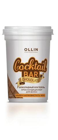 OLLIN крем-кондиционер для волос шоколадный коктейль объём и шелковистость волос 250мл