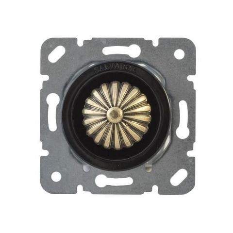 Выключатель с регулятором яркости для внутреннего монтажа (диммер). Цвет Чёрный. Salvador. CLDMBL