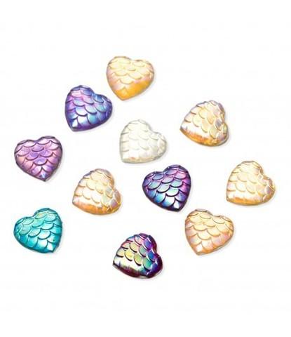 103 Стразы сердечки разноцветные 15 шт