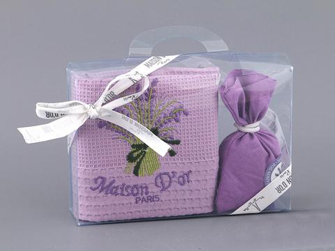 Кухонное полотенце с подарочной коробке Лаванда, лавандовое