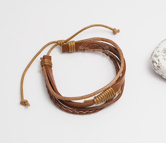 SL0187 Мужской браслет из кожи на завязках, «Spikes» фото 02