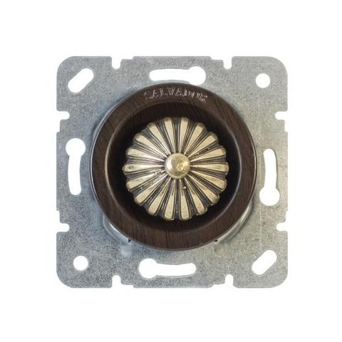 Выключатель с регулятором яркости для внутреннего монтажа (диммер). Цвет Венге. Salvador. CLDMWG