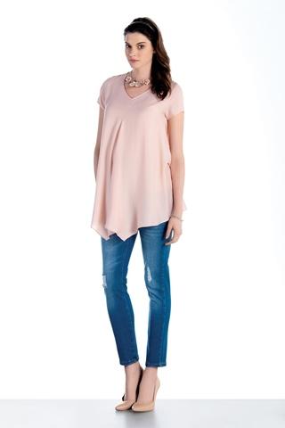 Блузка для беременных 07484 розовый