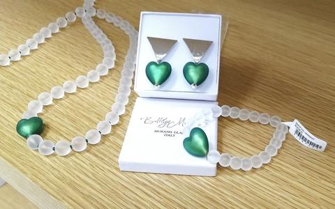 Комплект Cuori Metallo Marino (серьги, ожерелье, браслет)
