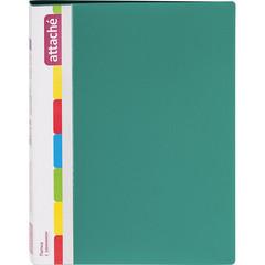 Папка с зажимом Attache А4 0.7 мм зеленая (до 150 листов, с карманом для CD и визиток)