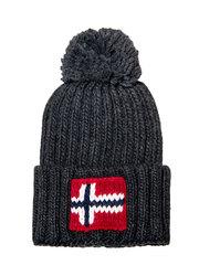 Napapijri шапка Semiury 3 темно-серый меланж