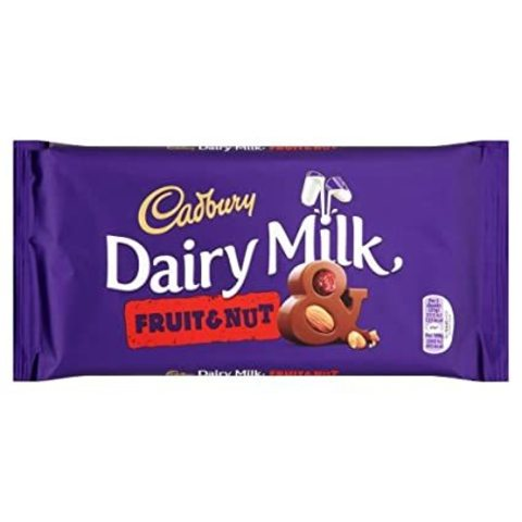 Шоколад Cadbury Dairy Milk Fruit and Nut 200 гр