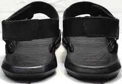 Летние кожаные босоножки сандали с открытой пяткой мужские Zlett 7083 Black.