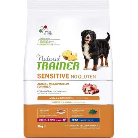 Сухой корм для собак TRAINER Natural Sensitive при аллергии, утка (для средних и крупных пород)