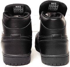 Jordan кроссовки ботинки зимние мужские Nike Air Jordan 1 Retro High Winter BV3802-945 All Black