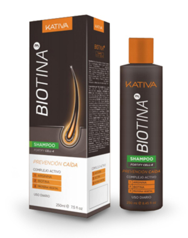 Шампунь против выпадения волос с биотином, Kativa Biotina, 250 мл