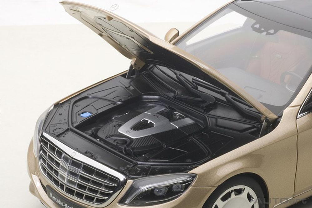 Коллекционная модель Mercedes-Benz X222 S600 Maybach S-Class SWB 2016 Light Golden