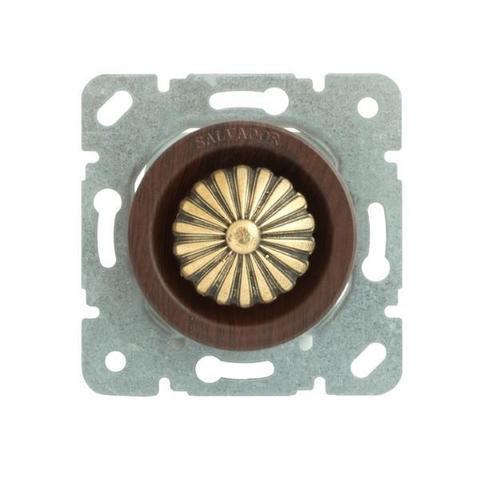 Выключатель с регулятором яркости для внутреннего монтажа (диммер). Цвет Вишня. Salvador. CLDMCH