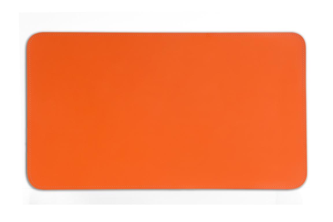 Бювар из итальянской кожи Cuoietto модель №9 цвет оранжевый.