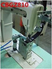Фото: Устройство обрезки лобной ленты бейсболки Н-23 для колонковой машины