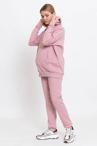 Утепленный спортивный костюм для беременных и кормящих 11998 розовый
