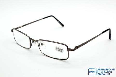 Очки готовые для зрения лектор в широком металлическом футляре ELIFE 7707 GREY (