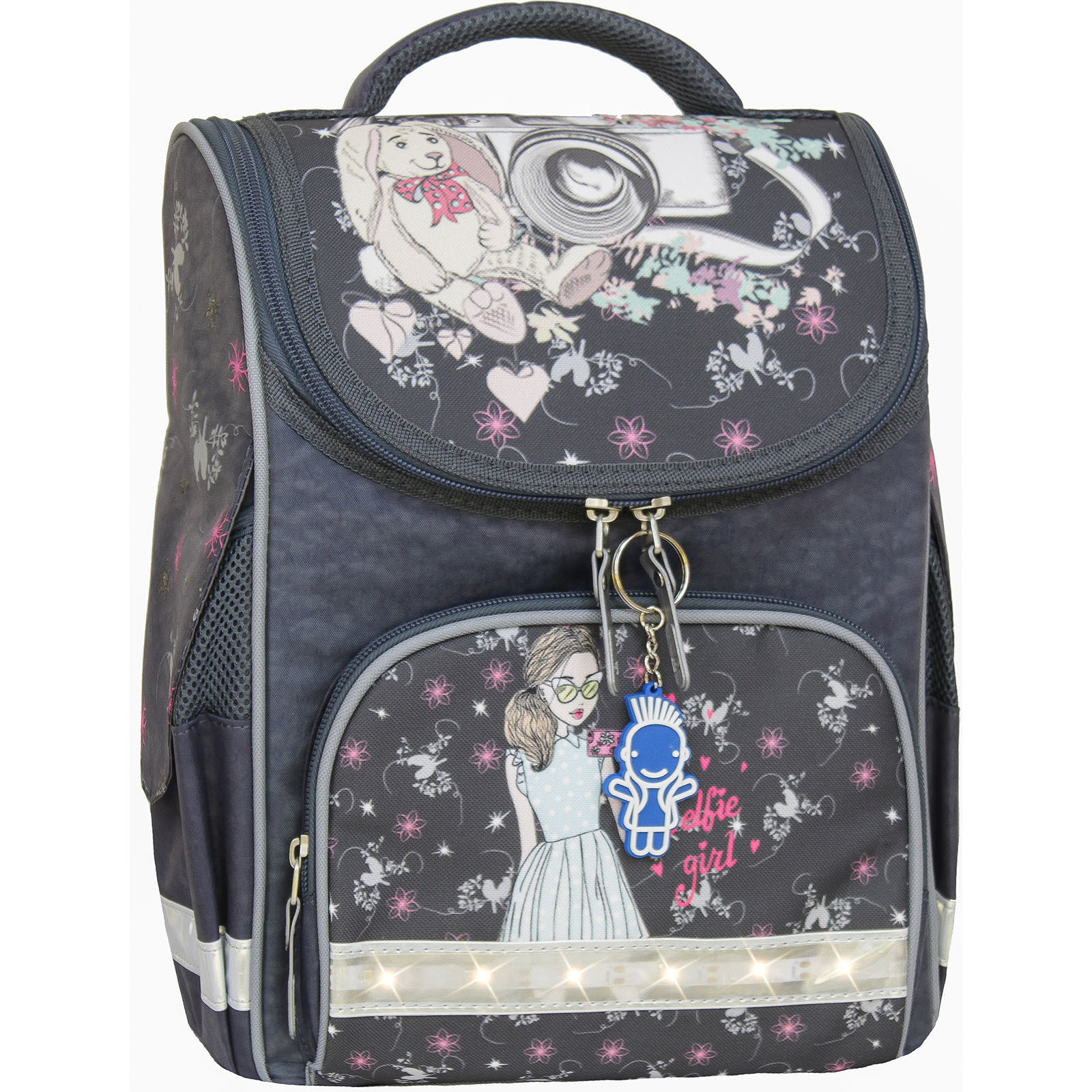 Школьные рюкзаки Рюкзак школьный каркасный с фонариками Bagland Успех 12 л. серый 210к (00551703) IMG_8522-1600.jpg