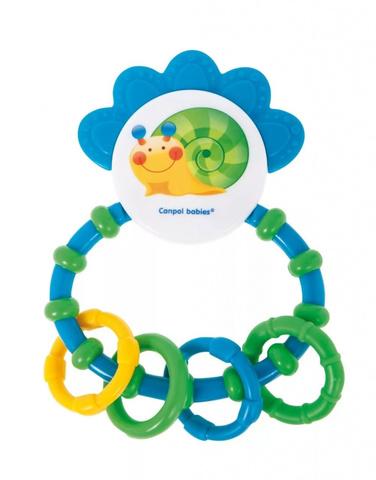 Погремушка с мягким прорезывателем - 0+ Happy garden, цвет: (синий)