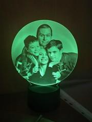 Фото-светильник в форме круга