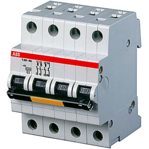 Автоматический выключатель трёхполюсный с нулём 63 А, тип K, 15 кА S203P K63NA. ABB. 2CDS283103R0607