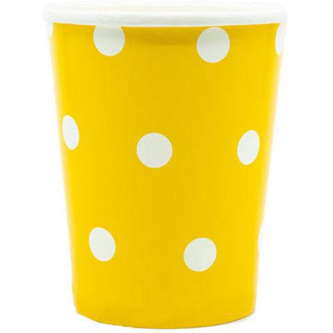 Стакан Горошек желтый 250мл 6шт/G