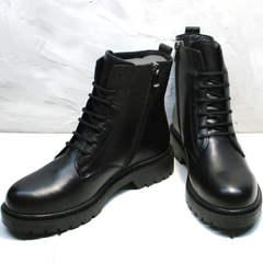 Женские демисезонные ботинки кожаные Misss Roy 252-01 Black Leather.