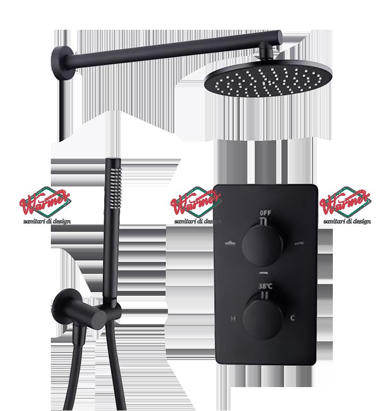 Душевая программа Душевой термостатический комплект Warmer Black Line 400300-10D Termo BL705-12.png