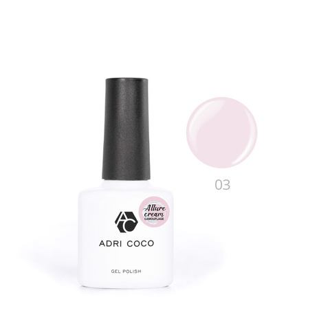 Гель-лак ADRICOCO Est Naturelle №03 камуфлирующий светло-розовый (8 мл.)