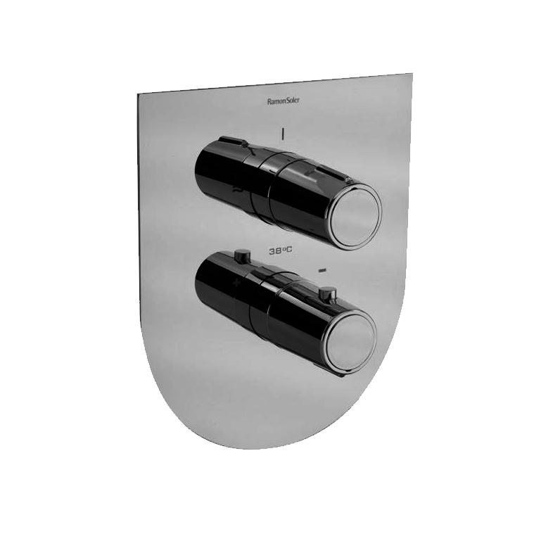 Встраиваемый термостатический смеситель для душа TZAR 342411SNC никель, на 1 выход