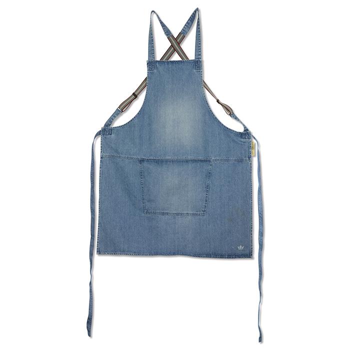 Фартук с подтяжками Suspender, хлопок, Синий деним, арт. 552182 - фото 1