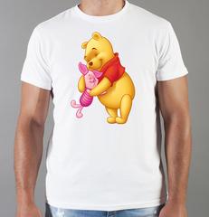Футболка с принтом мультфильма Винни-Пух (Winnie the Pooh) белая 0013