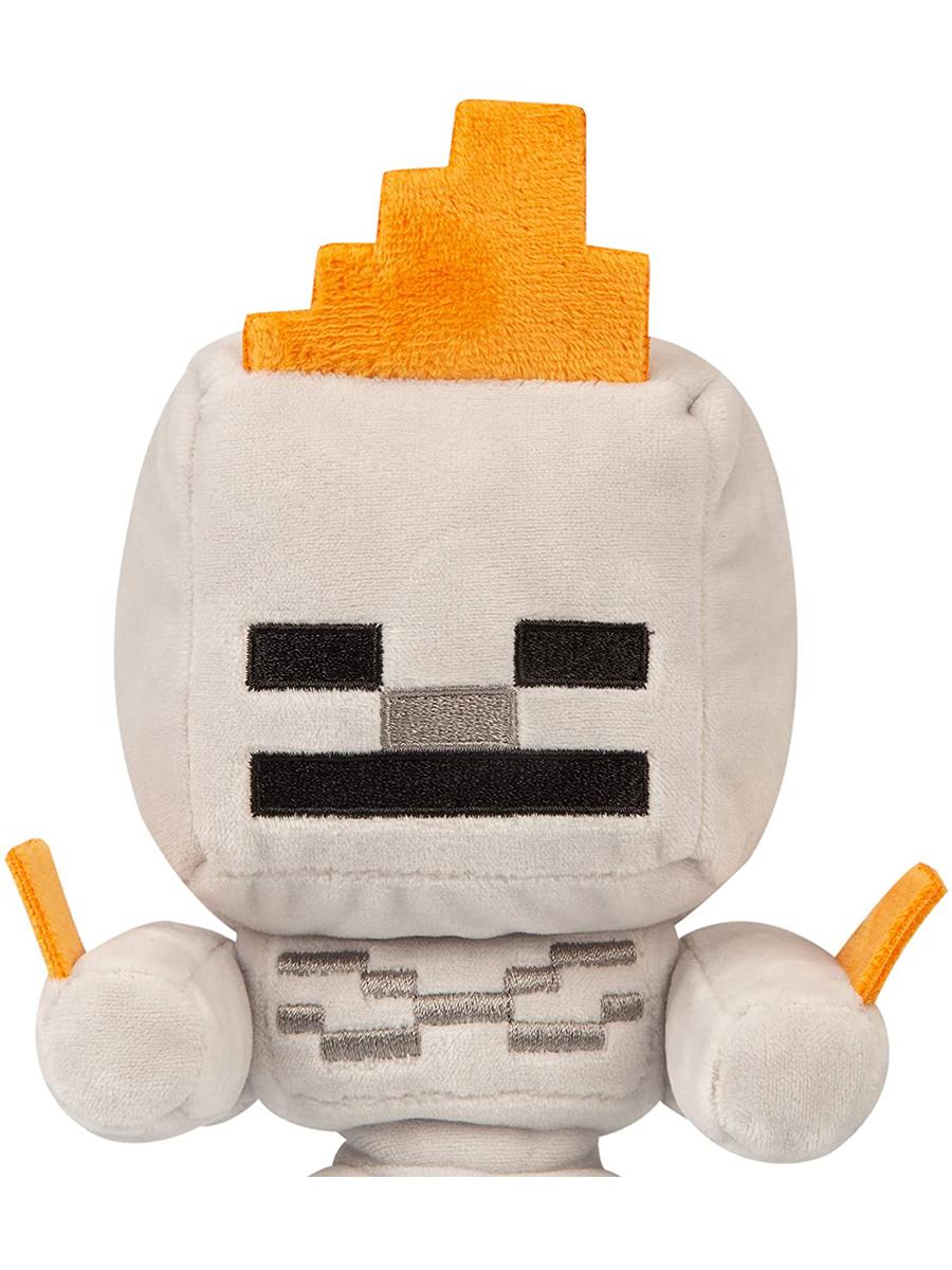 Мягкая игрушка Minecraft Happy Explorer Skeleton on fire 22см