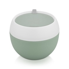 Ланч-бокс круглый 14.8x14.8x12.1см/800мл, цвет Зеленый (пластик)