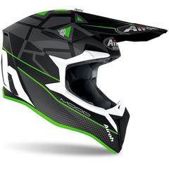 Кроссовый шлем Airoh Wraap Mood зеленый размер M (57-58)