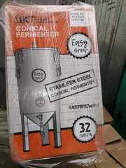 ЦКТ из нержавеющей стали с краном для слива дрожжей, 32 л (под заказ 15-25дней)
