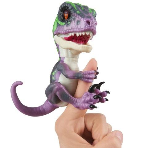 Неукротимый Раптор от Фингерлингс Рэйзор Фиолетовый Интерактивный Динозавр