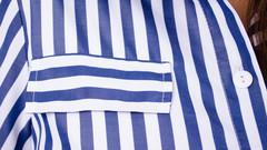 Ирина. Платье-рубашка больших размеров. Синяя полоса.