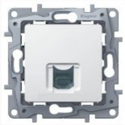 Компьютерная розетка RJ45 Кат. 5е UTP. Цвет Белый. Legrand Etika (Легранд Этика). 672241